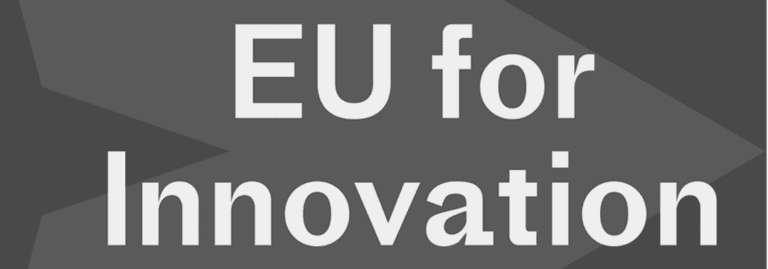 EU for Innovation official logo in a gray background