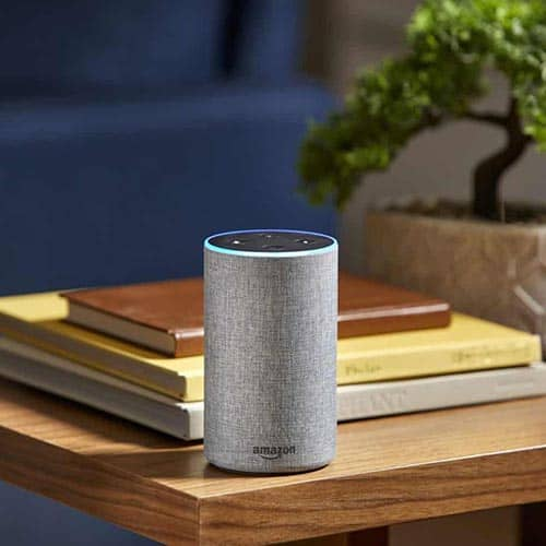 Amazon echo plus placed on a table